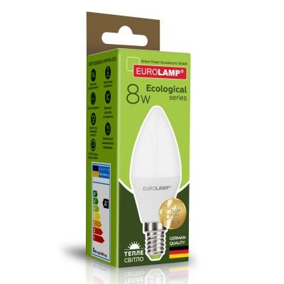 Светодиодная лампа Eurolamp CL 8W Е14 3000K (LED-CL-08143(P))