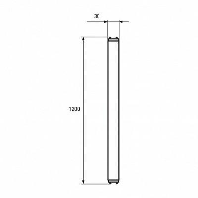 Светодиодная лампа Eurolamp 18W Т8 4100K Стекло (LED-T8-18W/4100(скло))