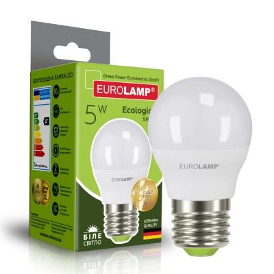Светодиодная лампа Eurolamp G45 5W Е27 4000K (LED-G45-05274(P))