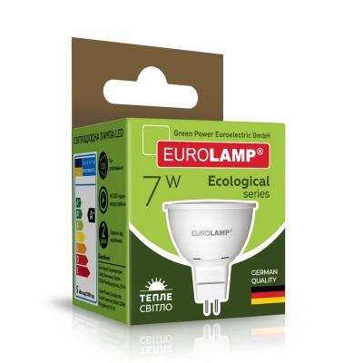 Светодиодная лампа Eurolamp SMD MR16 7W GU5.3 3000K (LED-SMD-07533(P))