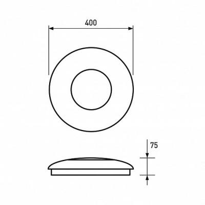 Светодиодный светильник Eurolamp Da Vinci круглый накладной 24W 4000K (LED-NLR-24W/4-N4(deco))