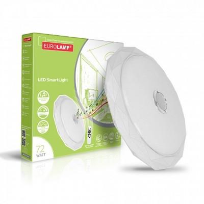 Светодиодный светильник Eurolamp музыкальный SMART LIGHT 72W 3000K-6000K (LED-ESL-48W-N1)
