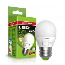 Светодиодная диммируемая EUROLAMP LED Лампа TURBO NEW dimmable G45 5W E27 4000K