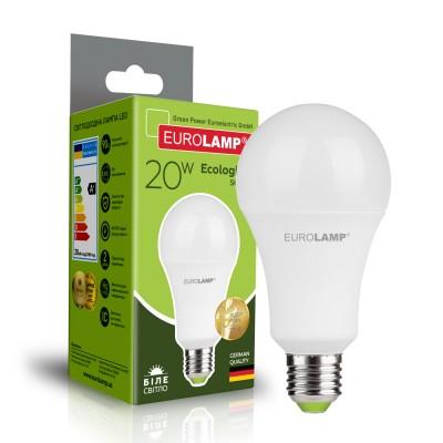Светодиодная лампа Eurolamp A75 20W Е27 4000K (LED-A75-20274(P))