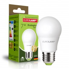 Светодиодная лампа Eurolamp A50 7W Е27 3000K (LED-A50-07273(P))