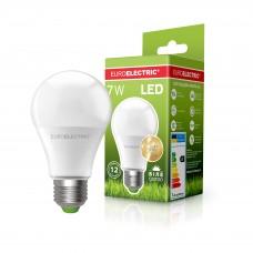 Классическая светодиодная EUROELECTRIC LED Лампа А60 7W E27 4000K