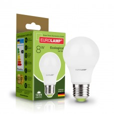 Классическая светодиодная EUROLAMP LED Лампа EKO A60 8W E27 3000K