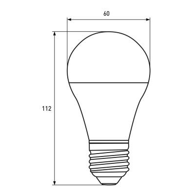Светодиодная лампа Eurolamp A60 10W Е27 4000K (LED-A60-10274(P))