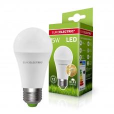 Классическая светодиодная EUROELECTRIC LED Лампа А60 15W E27 4000K