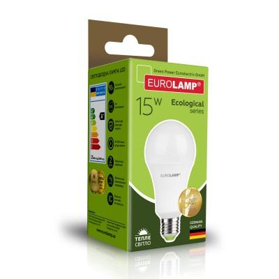 Светодиодная лампа Eurolamp A70 15W Е27 3000K (LED-A70-15272(P))