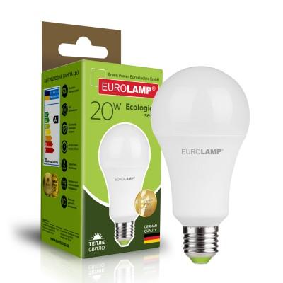 Светодиодная лампа Eurolamp A75 20W Е27 3000K (LED-A75-20272(P))