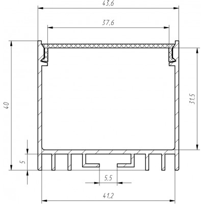 Алюминиевый LED-профиль ЛС 40