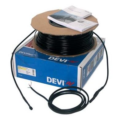 135 м нагревательный двухжильный кабель для крыш, желобов и водостоков DEVIsafe 20T на 230 В~