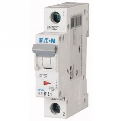 Автоматический выключатель (PL6-B16/1) 1Р 16А тип В арт. 286521