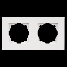 Рамка двойная Gunsan Eqona белый