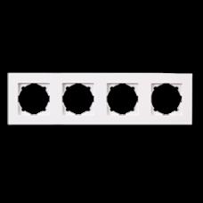 Рамка четверная Gunsan Eqona белый