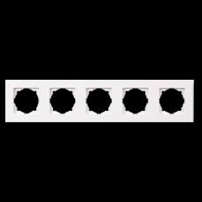 Рамка пятерная Gunsan Eqona белый