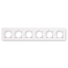 Рамка шестерная Gunsan Eqona белый