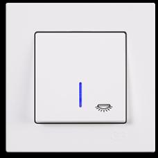 Кнопка контр. освещения с подсветкой Gunsan Eqona белый