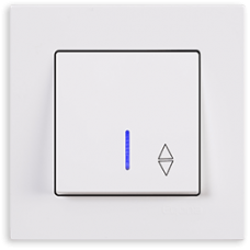 Переключатель одноклавишный с подсветкой Gunsan Eqona белый