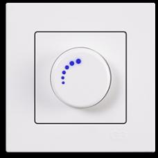 Светорегулятор 600Вт с подсветкой Gunsan Eqona белый