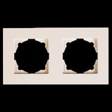 Рамка двойная Gunsan Eqona кремовый