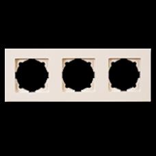 Рамка тройная Gunsan Eqona кремовый