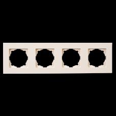 Рамка четверная Gunsan Eqona кремовый
