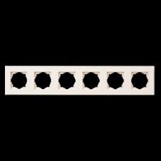 Рамка шестерная Gunsan Eqona кремовый