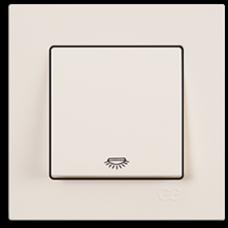 Кнопка контр. освещения Gunsan Eqona кремовый