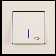 Кнопка контр. освещения с подсветкой Gunsan Eqona кремовый