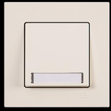 Кнопка звонка с подсветкой с этикеткой Gunsan Eqona кремовый
