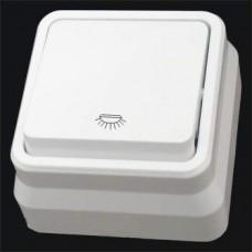 Кнопка контроля освещения одинарная наружная Gunsan Misya белый