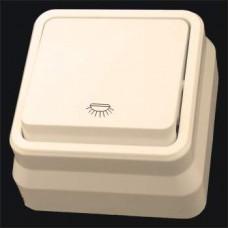 Кнопка контроля освещения одинарная наружная Gunsan Misya кремовый