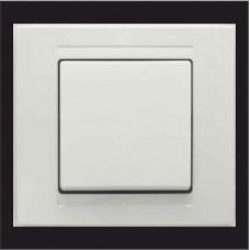 Выключатель одноклавишный Gunsan Moderna белый