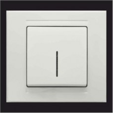 Выключатель одноклавишный с подсветкой Gunsan Moderna белый