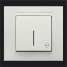 Выключатель проходной одноклавишный с подсветкой Gunsan Moderna белый