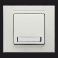 Кнопка звонка одинарная с подсветкой и местом под этикетку Gunsan Moderna белый