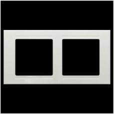 Рамка двойная Gunsan Moderna белый