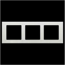 Рамка тройная Gunsan Moderna белый