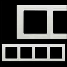 Рамка четверная Gunsan Moderna белый