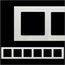 Рамка шестерная Gunsan Moderna белый