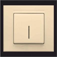 Выключатель одноклавишный с подсветкой Gunsan Moderna кремовый