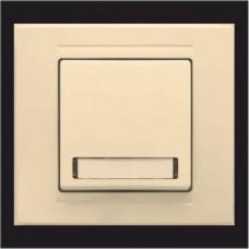 Кнопка звонка одинарная с подсветкой и местом под этикетку Gunsan Moderna кремовый