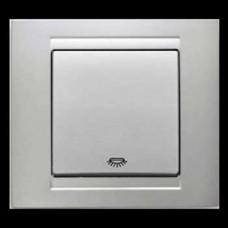 Кнопка контроля освещения Gunsan Moderna серебро