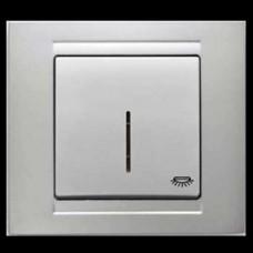 Кнопка контроля освещения с подсветкой Gunsan Moderna серебро
