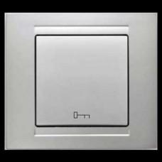 Кнопка управления дверным замком Gunsan Moderna серебро