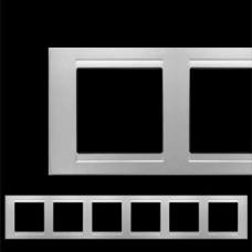 Рамка шестерная Gunsan Moderna серебро