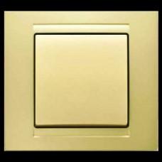 Выключатель одноклавишный Gunsan Moderna золото