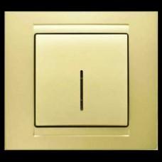 Выключатель одноклавишный с подсветкой Gunsan Moderna золото